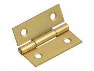 Forge Butt Hinge Brass Finish 40mm (1.5in) Pack of 2