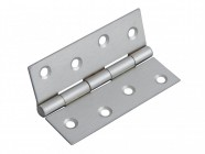 Forge Butt Hinge Satin Chrome Finish 100mm (4in) Pack of 2