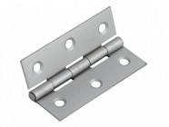 Forge Butt Hinge Satin Chrome Finish 75mm (3in) Pack of 2