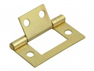 Forge Flush Hinge Brass Finish 40mm (1.5in) Pack of 2