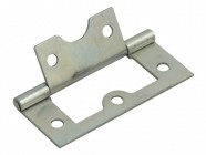Forge Flush Hinge Zinc Plated 60mm (2.5in)  Pack of 2