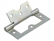Forge Flush Hinge Zinc Plated 75mm (3in)  Pack of 2