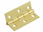 Forge Loose Pin Butt Hinge Brass Finish 75mm (3in) Pack of 2