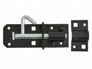 Forge Padlock Bolt Black Powder Coated 100mm (4in)