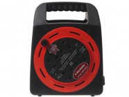 Faithfull Power Plus Easy Reel Cable Reel 50 Metre 13 Amp With 2 Socket 240 Volt