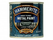 Hammerite Direct to Rust Hammered Finish Metal Paint Dark Green 250ml
