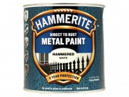 Hammerite Direct to Rust Hammered Finish Metal Paint White 2.5 Litre