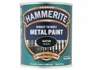 Hammerite Direct to Rust Satin Finish Metal Paint Black 750ml