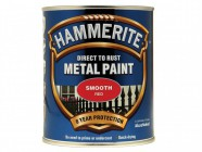 Hammerite Direct to Rust Smooth Finish Metal Paint Red 750ml