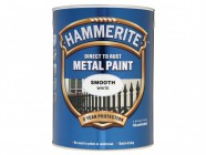 Hammerite Direct to Rust Smooth Finish Metal Paint White 5 Litre