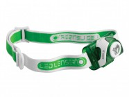 LED Lenser SEO3 Head Lamp Green Test It Pack