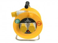 Masterplug Cable Reel 25 Metre 16A 110 Volt Thermal Cut-Out