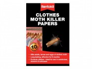 Rentokil Clothes Moth Papers (Pack of 10)