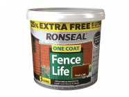 Ronseal One Coat Fencelife  Country Oak 4 Litre + 25%