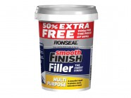 Ronseal Smooth Finish Multi Purpose Interior Wall Filler Ready Mixed 600g +50%