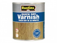 Rustins Quick Dry Varnish Satin Clear 1 litre