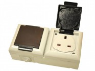 SMJ IP54 Outdoor Socket 13A Double Gang
