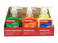 Swarfega 6 Assorted Hand Cleaner Pump Top Bottles 450ml