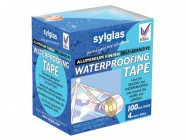 Sylglas Aluminium Finish Waterproofing Tape 100mm/4in 4m Roll