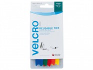 VELCRO® Brand Adjustable VELCRO® Brand Ties (5) 12mm x 20cm Multi-Colour