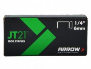 Arrow JT21 T27 Staples 6mm (1/4in) Box 1000