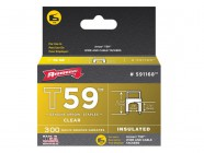 Arrow T59 Insulated Staples Clear 6 x 6mm Box 300