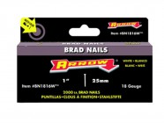 Arrow BN1816 Head Brad/ Nails 25mm White Pack 2000