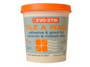 Evo-Stik Tile a Wall Adhesive & Grout for Ceramic & Mosaic Tiles  1 Litre