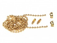 Faithfull Brass Ball Chain Kit 1m Polished Brass