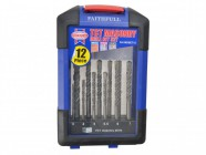 Faithfull TCT Masonry Drill Set of 12 3-10mm