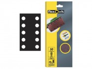 Flexovit 1/2 Sanding Sheets 115 x 280mm Perforated Medium 80g (10)
