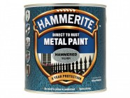 Hammerite Direct to Rust Hammered Finish Metal Paint Silver 2.5 Litre