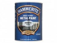 Hammerite Direct to Rust Smooth Finish Metal Paint Black 2.5 Litre
