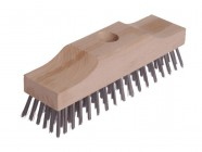 Lessmann Broom Head Raised Wooden Stock 6 Row 220mm x 60mm
