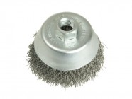 Lessmann Cup Brush 100mm  M14 x 0.35 Steel Wire