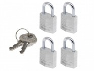 Master Lock Aluminium 20mm Padlock 3 Pin - Keyed Alike x 4