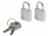Master Lock Aluminium 20mm Padlock 3 Pin - Keyed Alike x 2