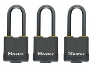Master Lock Excell Weather Tough 45mm Padlock  4 Pin- Keyed Alike x 3