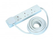 Masterplug Extension Lead 240 Volt 4 Gang 13 Amp White 5 Metre