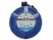 Masterplug Cassette Cable Reel 12 Metre 4 Socket Thermal Cut-Out Blue 13A 240 Volt