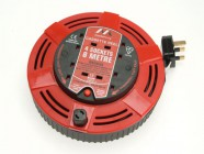 Masterplug Cassette Cable Reel 8 Metre 4 Socket Thermal Cut-Out Red 13A 240 Volt