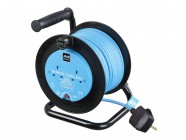 Masterplug Drum Cable Reel 20 Metre 2 Socket 10A Thermal Cut-Out 240 Volt