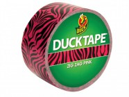 Shurtape Duck® Tape 48mm x 9.1m Pink Zebra