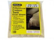 Stanley Tools Cotton Twill Dust Sheet 3.6 x 2.7m