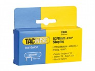 Tacwise 53 Light Duty Staples 8mm (Type JT21, A) Pack 2000