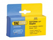 Tacwise 53 Light Duty Staples 12mm (Type JT21, A) Pack 2000