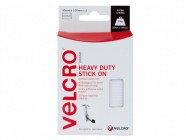 VELCRO® Brand Heavy-Duty VELCRO® Brand Stick On Strips (2) 50 x100mm White
