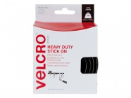 VELCRO® Brand Heavy-Duty VELCRO® Brand Stick On Tape 50mm x 1m Black