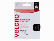 VELCRO® Brand Heavy-Duty VELCRO® Brand Stick On Tape 50mm x 5m Black