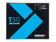 Arrow T50 Staples 12mm (1/2in) Pack 1250